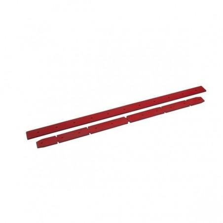 Listwy gumowe, rowkowane, czerwone, 930 mm, 2 sztuki
