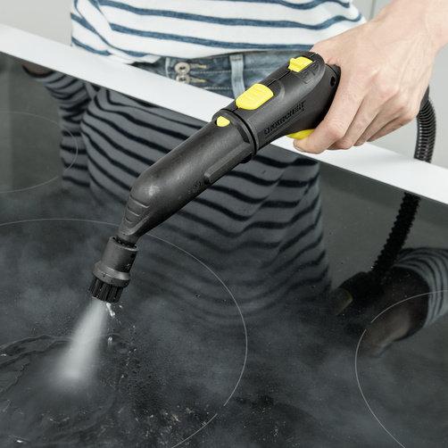 Funkcja VapoHydro Gorąca woda z parą przekłada się na łatwiejsze usuwanie brudu. Lepsze rezultaty czyszczenia.